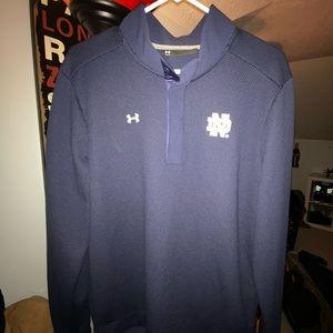 Under Armour Notre Dame ND 1/4-Button ColdGear L